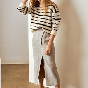 LINE the Label white and black striped swe…